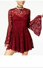 MATERIAL GIRL Women's Lace  Dress Tile Red Size  Medium