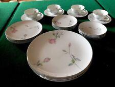 24 Pcs Sango Fine China Etude 6213 Japan 6 Pc Service For 4 Plates Bowls Cups
