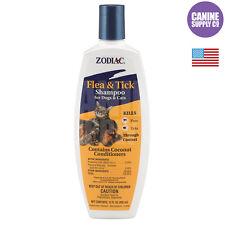 Zodiac Flea & Tick Shampoo For Dogs & Cats (Kill Fleas + Ticks), 12-Ounce Bottle