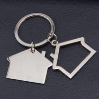 1pc House Shape Key Chain Keychain Keyring Key Fob Metal Gift Car Ring Creative