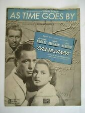 1940'S Sheet Music As Time Goes By From Casablanca