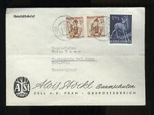 ÖSTERREICH - AUSTRIA 1959 Geschäftsbrief mit Bahnpost Passau - Wels