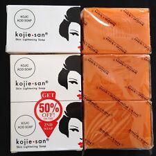 Kojie San Kojic acid skin Lightening soap X3 bars Authentic - Big size 135g each