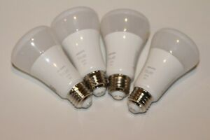 Philips Hue 548586 White A19 LED Smart Bulb 4-Pack USED