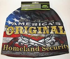 HD Sublimation America Home Land Security Stocking Hat Cap Beanie Fleece Lined