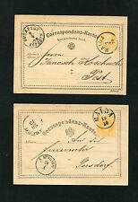 """Österreich  """"Haida"""" zwei versch. Stempel auf 2 Ganzsachen  (#823)"""