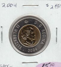 W7 CANADA $2.00 COIN TOONIE 2004 SPECIMEN FROM A ROYAL CANADIAN MINT SET
