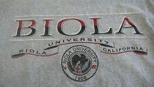 BIOLA UNIVERSITY CALIFORNIA MEDIUM GRAY T-SHIRT MADE IN USA