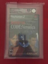 Resident Evil - CODE: Veronica X Sony PlayStation 2 PS2 SEALED VGA GRADED 80