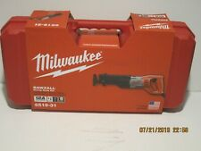 Milwaukee 6519-31 Sawzall, Reciprocating SAW 12 AMP W/CASE FREE FAST SHIP-NISB!