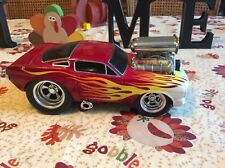 muscle machines 1 18.     '66 Mustang Red W/Flames 2000