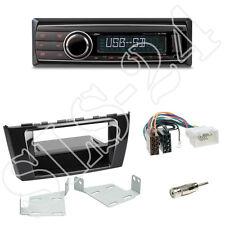 Caliber RMD212 SD-Radio + Mitsubishi Space Star 2-DIN Blende black + ISO Adapter