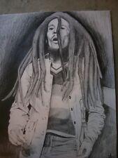 Original Bob Marley Pencil Drawing