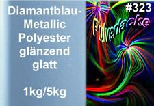 PULVERLACK Beschichtungspulver Diamantblau Metallic Pulverbeschichtung RAL3032