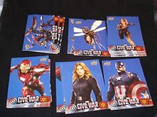 Guerra Civil Capitán América Conjunto completo de tarjeta Walmart Base Azul VHTF/escaso