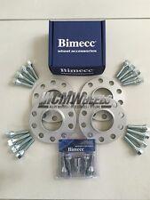 4 x 15mm Silver Alloy Wheel Spacers Silver Bolts Locks - BMW E90 E91 E92 E93