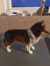 Elite Pottery RARE Collie Dog Figurine with Gold Label - Excellent condition