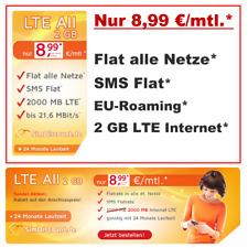 Handyvertrag mit LTE Internet Flat 2GB Smartphone Vertrag Allnet Flat alle Netze
