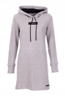 Calvin Klein Printed Hoodie Sweater Dress, Gray,  L