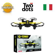 DRONE MINI QUADRICOTTERO RADICOMANDATO 2,4 Ghz CAMERA HD VIDEO FOTO LED
