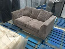 NEW LUSH CANDY GREY JUMBO CORD 2 SEATER FABRIC SOFA SETTEE COUCH  CHEAP SALE