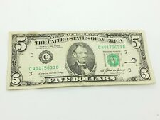 Old Paper Money 1985 Five $5 Dollar Bill Federal Reserve Note