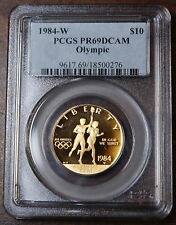 1984-W Olympic $10 Gold Commemorative, PCGS PR-69 DCAM