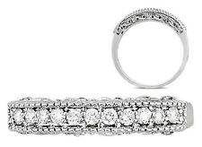VVS 0.21 Round Brilliant Cut Diamonds Ring With Engraving in18k Solid White Gold
