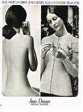 PUBLICITE ADVERTISING 014   1972   JEAN DESSES   parfum sweaters