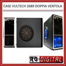 CASE PC CON DOPPIA VENTOLA TRASPARENTE BLU 2 USB Vultech GS-2689 ATX E MICRO-ATX