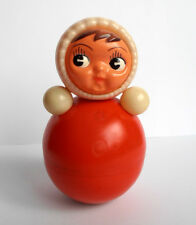 1960s Vintage USSR Russian Soviet CELLULOID SOUND Toy Doll Cork-Tumbler