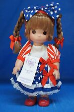 """Minnie Born in USA 12"""" Doll Brunette Disney Parks Precious Moments 5239 Signed"""