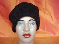 1970's VINTAGE BEAUTIFUL WINTER WOMAN BLACK HAT