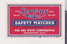 Ancienne  étiquettes de paquet  allumettes Suède  BN20913 Sem US