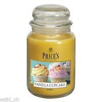 Price's Candles Large Jar Scented Candle - Vanilla Cupcake - FREE P&P