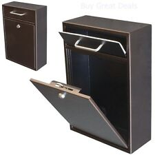 Mailbox Wall Mount With Lock Key Drop Box Parcel Cash Money Safe Mail Security