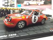 PORSCHE 911 S ST Rallye Monte Carlo 1970 Winner Waldegaard #6  IXO Altaya 1:43