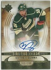 2013/14 MATHEW DUMBA ULTIMATE COLLECTION AUTO ROOKIE CARD 260/299