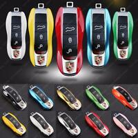 Remote Key Holder Shell Cover For Porsche Cayenne Macan Panamera Boxster 911
