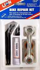 Bike Puncture Repair Kit Tools Patches Glue - Lion