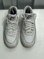 Nike Air Max 90 Leather LTR Triple White Trainer Size 6 724821-100 2015 Release
