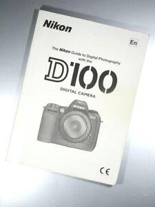2005 NIKON CAMERAS D100 GUIDE TO DIGITAL PHOTOGRAPHY INSTRUCTION MANUAL SLR UK
