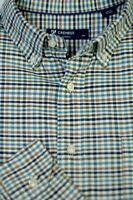 Daniel Cremieux Men's Green Navy White Check Luxury Cotton Casual Shirt L Large