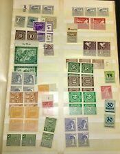 Briefmarken-Album  9 Blätter mit verschiedenen Marken  Deutsches Reich, Deutschl