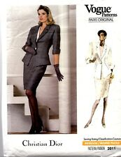 VINTAGE Vogue Designer Sewing Pattern 2011 CHRISTIAN DIOR Petite Giacca Gon