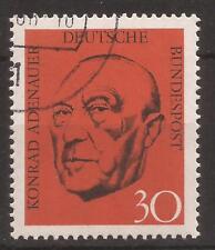 1968 Death of Konrad Adenauer used, Michel 567.