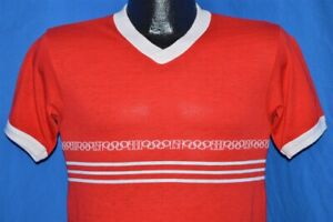 vintage 80s LEVIS 1980 OLYMPIC GAMES MOSCOW USA STRIPED RED RINGER t-shirt S