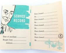 RARE c1950s OBSOLETE KINGSTON WATCH Co GUARANTEE BLANK BOOKLET.