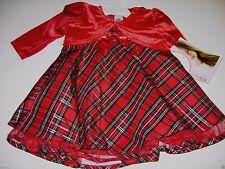 Youngland Baby Girl's Elegant Holiday Christmas Xmas Dress w/Jacket 12 Month NWT