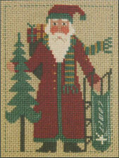 2008 Yearly Santa Sled Prairie Schooler Cross Stitch Pattern